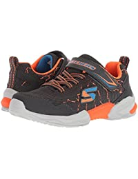 [SKECHERS(スケッチャーズ)] キッズスニーカー?靴 Techtronix 97841L (Little Kid/Big Kid) Charcoal/Orange 1 Little Kid (20cm) M