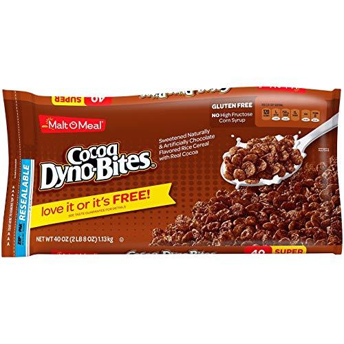 モルト-O-ミールグルテンフリー朝食シリアル、ココアダイノ、40オンス、バッグ -O-Meal Gluten Free Breakfast Cereal, Cocoa Dyno-Bites, 40 Oz, Bag