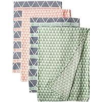 Bacati Emma Aztec Triangles 4 Piece Cotton Muslin Swaddling Blankets Mint [並行輸入品]