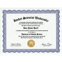 Rocket Scientist Degree: Custom Gag Diploma Doctorate Certificate (Funny Customized Joke Gift - Novelty Item) by GD Novelty Items [並行輸入品]