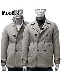 (ムーレー) MooRER ダウンジャケット Pコート カシミア混 2WAY BEIGE ベージュ BOLGI-BAC BEIGE [並行輸入品]