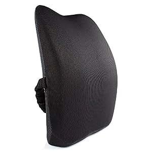 IKSTAR ランバーサポート 低反発クッション 骨盤サポート 腰まくら 腰痛対策 姿勢矯正 背当て 背もたれ 猫背 健康クッション ブラック