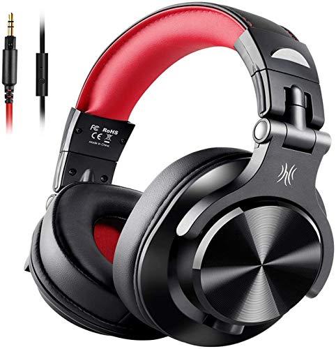 【音楽ミックス&音楽シェア】OneOdio モニターヘッドホン 音楽シェア機能 低音強化 DJヘッドホン 有線ヘッドフォン 密閉型 室内 宅録 A71