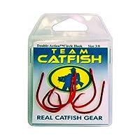 Team Catfish ダブルアクション キャットフィッシングフック 3/0 RED-5PK レッド
