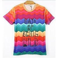 Women Men Unisex 3D Print Galaxy Animal hipster Tee Shirt(Waves of)