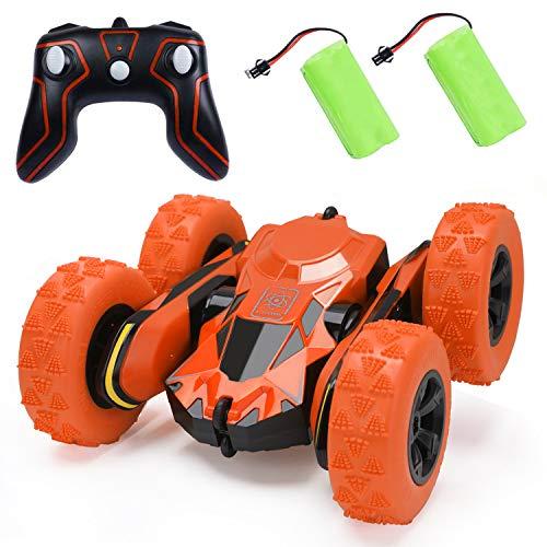 BGVANG ラジコンカー 電動 リモコンカー こども向け ラジコン オフロード 360度回転 四輪駆動 高速 車 おもちゃ 2.4GHz無線 充電 操作簡単 子供 贈り物 (オレンジ)