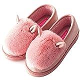 Sixspace ルームシューズ レディース コットン スリッパ 室内履き 靴 冬のコットンスリッパ 防寒 可愛い 女性の靴 滑り止め 暖か 厚底 ピンク 23.5cm