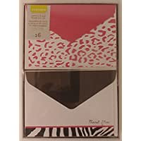 Notecard and Thank You Set 16 Ct Pink/black by Gartner Stuidos [並行輸入品]