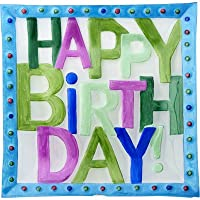 LS Arts Happy Birthday Square Platter, 11, Multiple by LSArts
