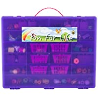 Shopkins Compatible Organizer - Fun For Life Is The Perfect Shopkins Compatible Storage Case - Fits Up Approx 220