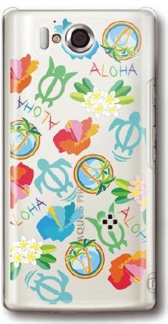 練習列車近く【Paiiige】 ALOHAミックスTYPE3 (クリア)/ for AQUOS PHONE ZETA SH-09D/Docomo専用ケース DCSH09-101-A015