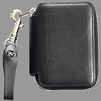 クレイスミス(CLAY SMITH) 本革 レザー コインケース 財布 小銭入れ WILD WELL ブラック CSY-7222SLP