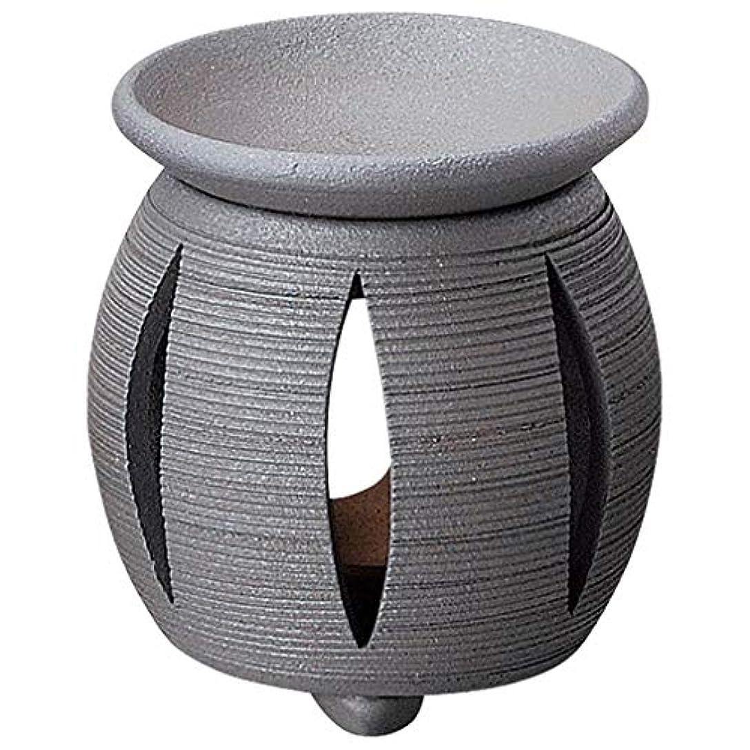 広範囲鹿思いやりYI--Y-1617 常滑焼 茶香炉 径11×高さ11.5cm