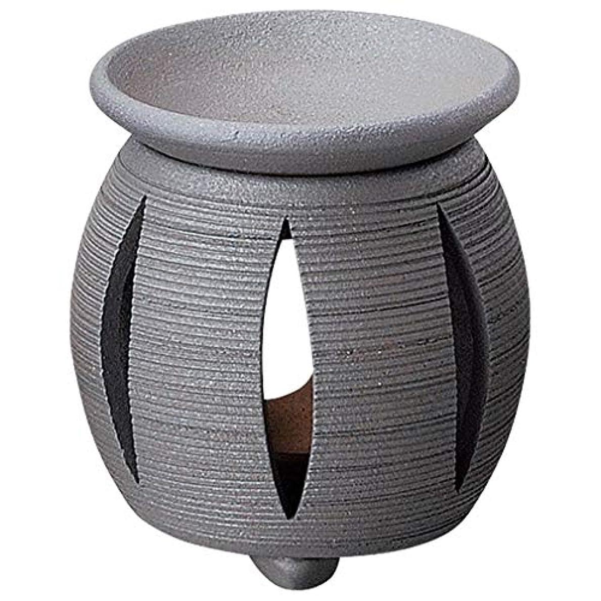 明るいブラシマスク常滑焼 G1714 茶香炉  径11×11.5cm