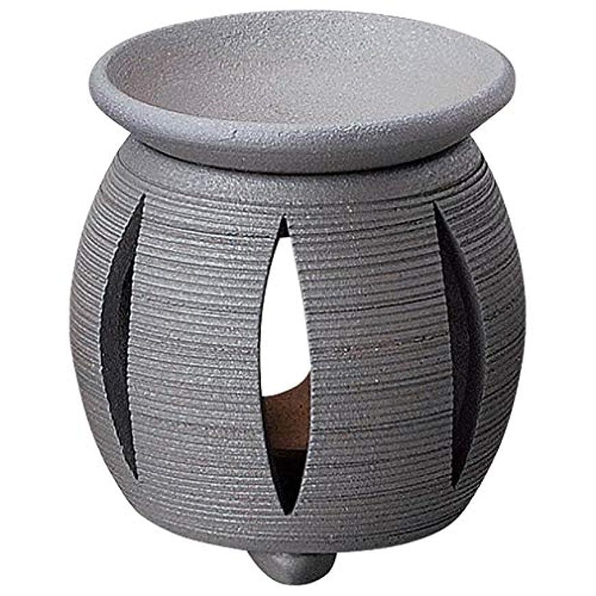 くさび青美しい常滑焼 G1714 茶香炉  径11×11.5cm