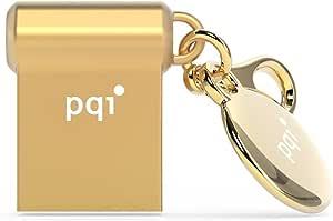 PQI 耐衝撃/防水/防塵/永久保証 USB3.0 USBメモリ 32GB 超小型 メタルデザイン 亜鉛合金製 ゴールド i-mini II U838V UD838VGD-32