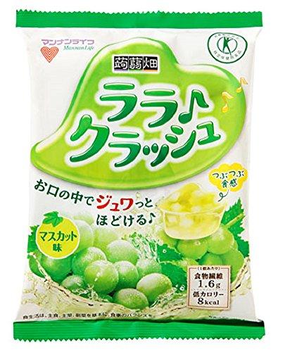 [トクホ]マンナンライフ 蒟蒻畑ララクラッシュマスカット味24g*8個×12袋