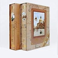 ランダムなビンテージビッグフォトアルバム画像ケース結婚式家族フォトアルバムスクラップブックコレクション画像ホーム&ガーデン、ランダムスタイルからの電子インフォトアルバム