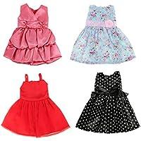 Dovewill  8インチアメリカドール対応 かわいい 美しい ドレス スカート 4個