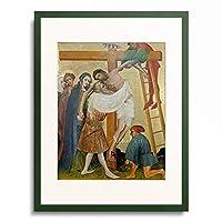 作者不明 (Master of the golden Panel) 「The Golden Panel. The Deposition from the Cross. About 1418/20」 額装アート作品