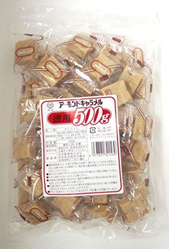 宮田製菓 アーモンドキャラメル 徳用 500g