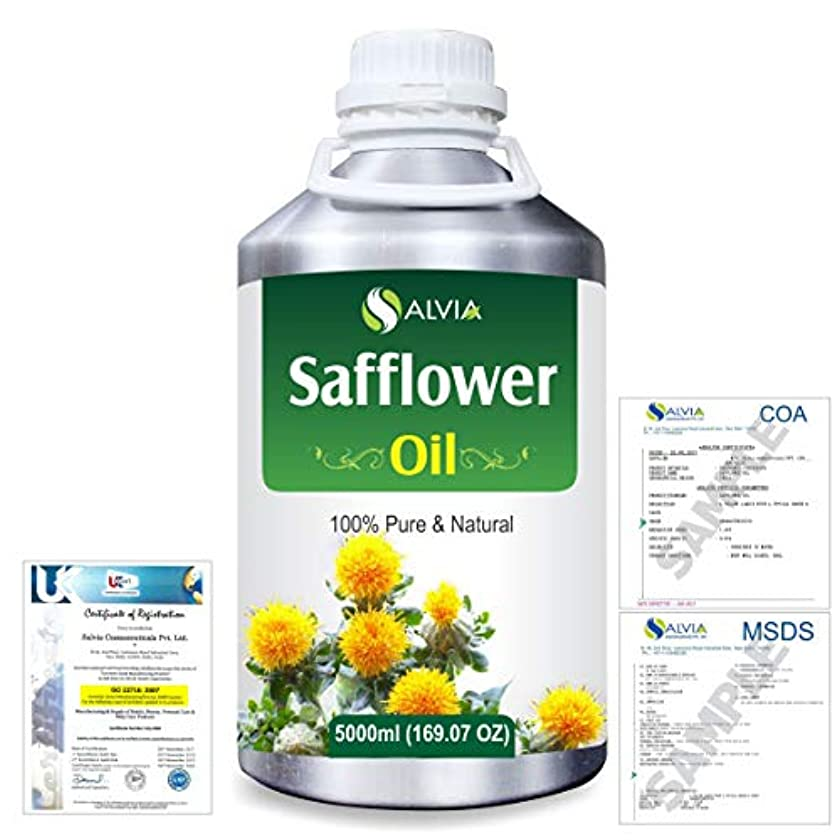 鉄道運搬海峡Safflower (Carthamus tinctorius) Natural Pure Undiluted Uncut Carrier Oil 5000ml/169 fl.oz.