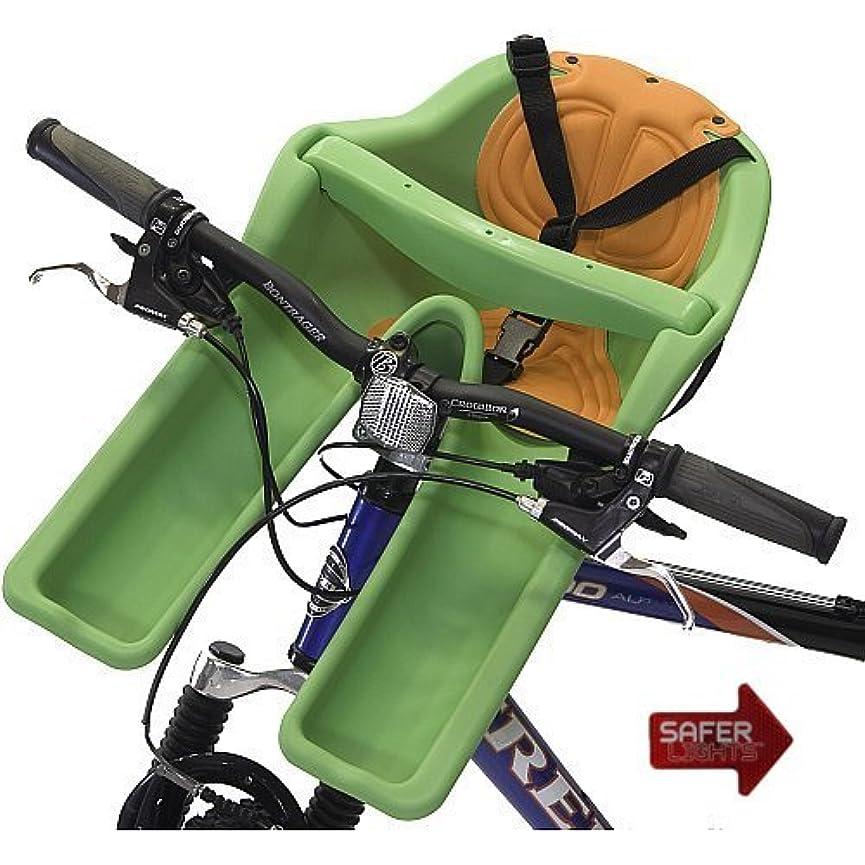 調子教義寝てるiBert Safe-T Front Mounted Child Bicycle Seat with Free Safer Light LED Safety Reflector by iBert