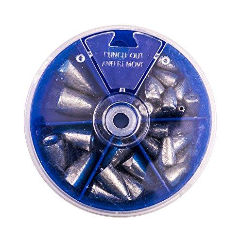 【オルルド釣具】ワームシンカーセット120g淡水・バス釣りに弾丸型5サイズ入りqb500043a01n0