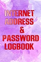 Password Secret Address: I Will Remember Internet Password Book 110 Page Matte Cover Design Size 6 X 9 INCH ~ Log - Note # Tabs Standard Print.
