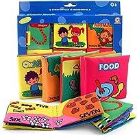 XIDUOBAO 布製ベビー服 本 早期教育玩具 初めてのソフトブック クリンクル 幼児 乳児 子供用 6冊パック