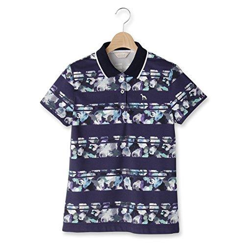 (アダバット) adabat フィオーレボーダー柄半袖ポロシャツ 11918541 38(M) ネイビー(193)