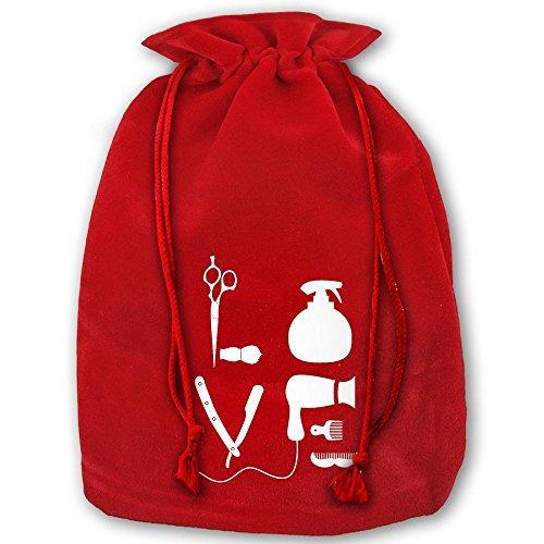 クリスマス ナップサック 巾着袋 バーバー サロン ヘアドラ...