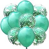 Jiabinwang 12インチローズゴールドバルーンシリーズバルーンパーティー紙の紙吹雪ドットパーティーの誕生日の装飾 バルーン (Color : GreenAndPurple, Size : ワンサイズ)
