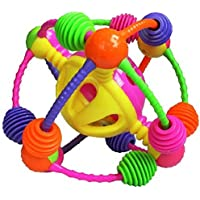 ocamo Rattle and Rollボールおもちゃカラフルなソフトアクティビティボールベビー幼児幼児Teether Rattles