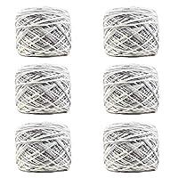 6パックソフトヤーンユニークな綿の糸、多色、編み物のための素晴らしい、編み物,B