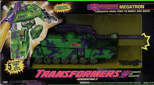 Transformers Generation 2 G2 Megatron Decepticon Leader Tank 1993 トランスフォーマー G2 メガトロン(海外版)