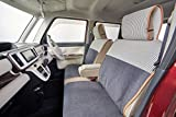 リラックス&ナチュラルスタイル 前席シートカバー(1席) 軽自動車・小型車 チャコールブラック×スコールストライプ