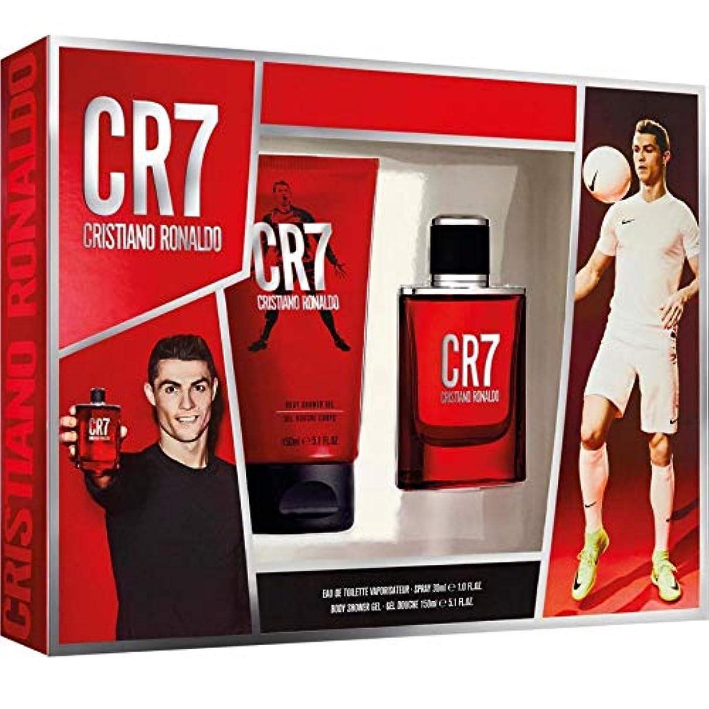 真鍮ボール腹CRISTIANO RONALDO CR7オムEDTとシャワージェル、30 ml / 150 ml
