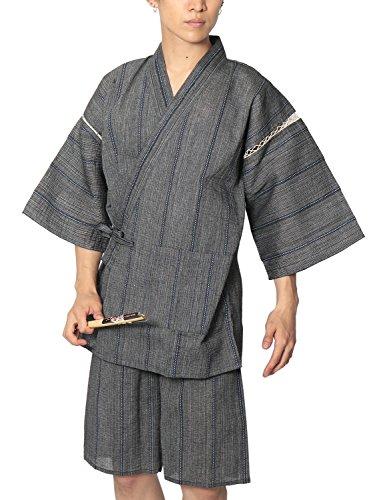 (リピード) REPIDO 甚兵衛 メンズ シジラ織 甚平 浴衣 和服 E柄 Mサイズ