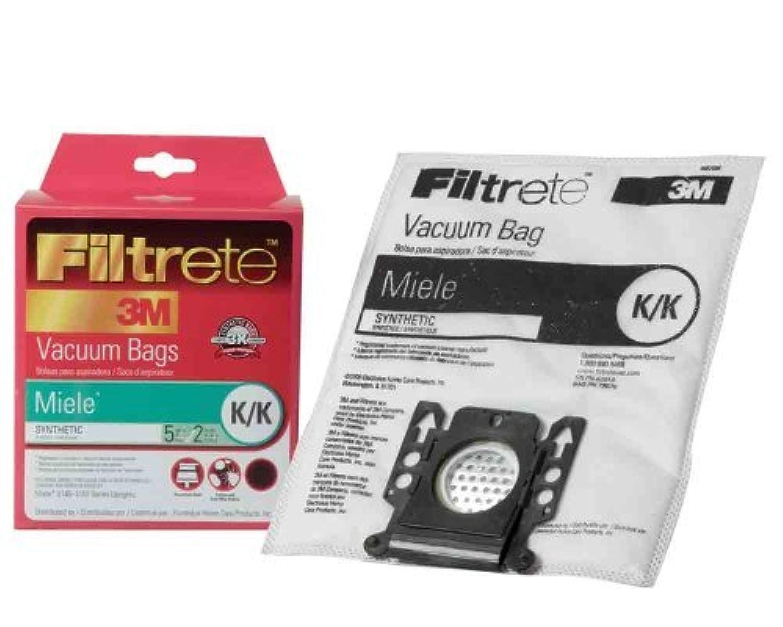 7 X Filtrete Miele K / K合成バッグ、フィルタ、5バッグと2フィルタ