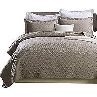 gardenlightess ベッドカバー ベッドスプレッド 3点セット おしゃれ ダブル 綿100% 230×250cm