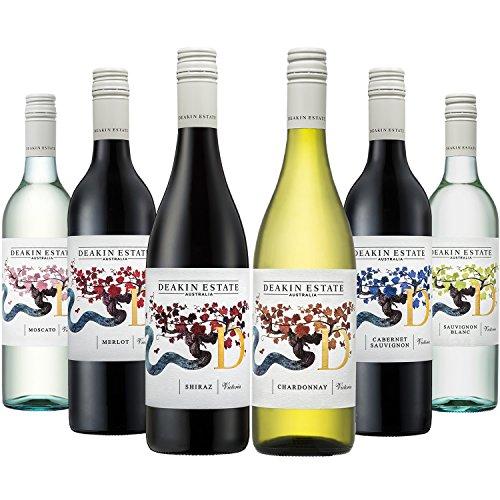 ESTATE(ディーキンエステート) オーストラリア主要品種飲み比べ赤・白750ml×6本セット