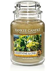 Yankee Candle Grapevine & Oak & $ 153 ;、ワイン香り Large Jar Candle グリーン 1221441