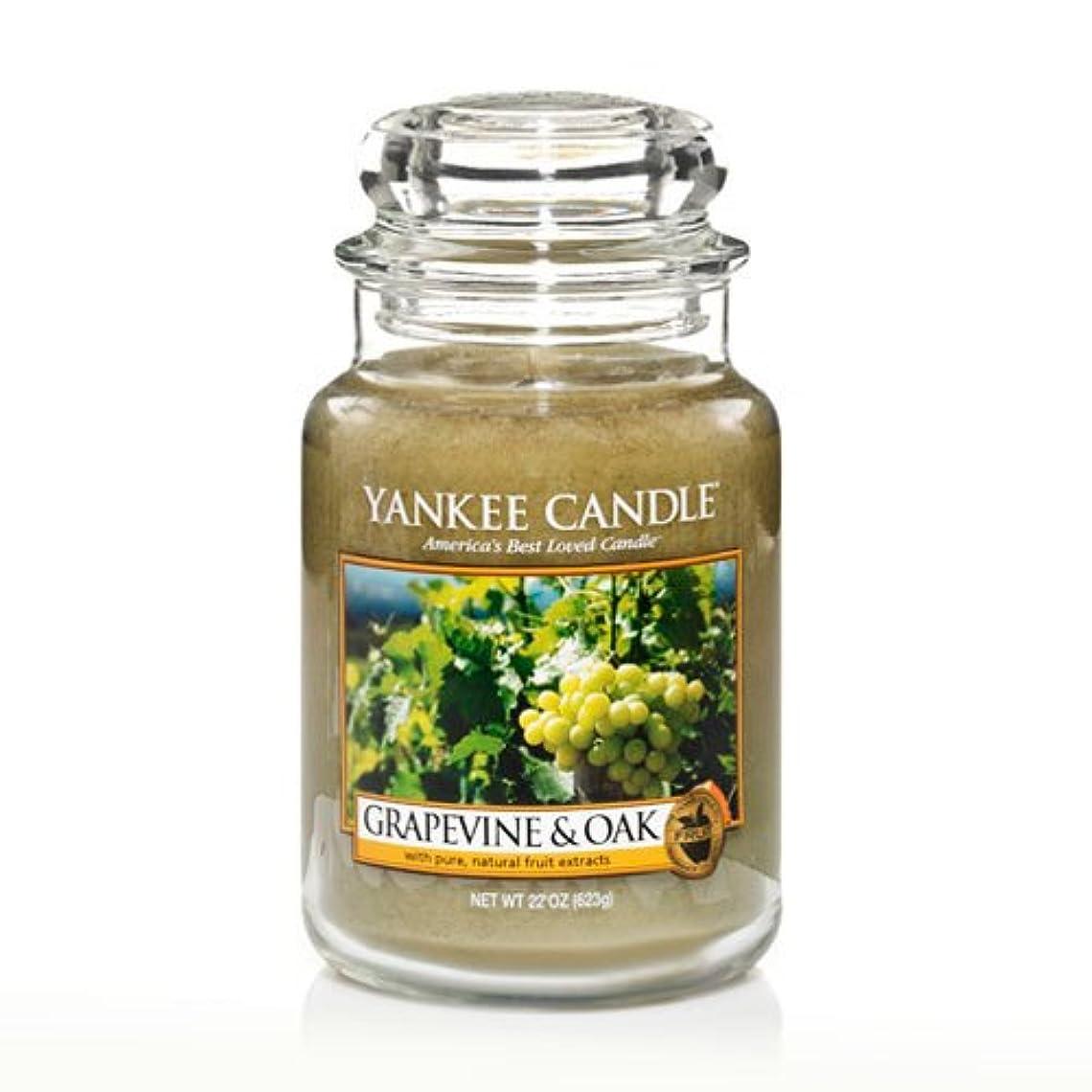 サンプル大砲ポゴスティックジャンプYankee Candle Grapevine & Oak & $ 153 ;、ワイン香り Large Jar Candle グリーン 1221441