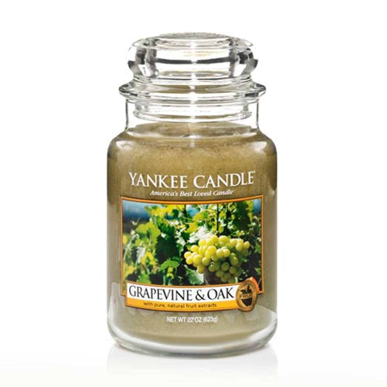 パッドブロックする草Yankee Candle Grapevine & Oak & $ 153 ;、ワイン香り Large Jar Candle グリーン 1221441