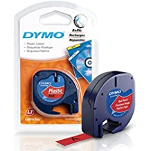 DYMO LetraTag Labeling Tape for LetraTag Label Makers, 1/2'' W x 13' L, 1 roll (91335)