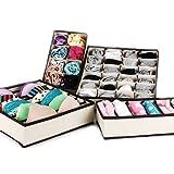 Lagute 収納ボックス 4点セット 総計45ボックス数 折り畳み可能 仕切りケース