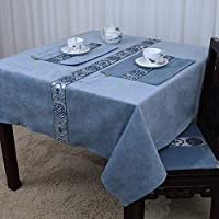 Shuangdeng ヨーロッパスタイル、田舎風、テーブルクロスクラシック、シンプル、中華風、テーブルクロス (Color : O, サイズ : 120x120cm(47x47inch))