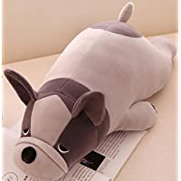 HuaQingPiJu-JP ぬいぐるみ55センチメートル動物玩具ぬいぐるみ犬のピロー人形犬ソフトおもちゃギフトホームデコレーション(グレー)