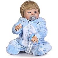 NPK collection Rebornベビー人形リアルな赤ちゃん人形ビニールシリコン赤ちゃん22インチ55 cm人形新生児ブルーベルベットSiamese